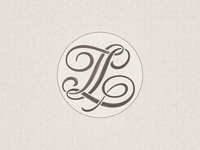 Stencilled »TL« Monogram ... typography custom lettering typo logo monogram mark