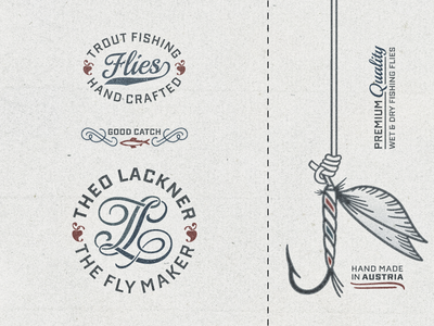 The Fly Maker ... typography typo type hand lettering vector graphic illustration fishing angling fly