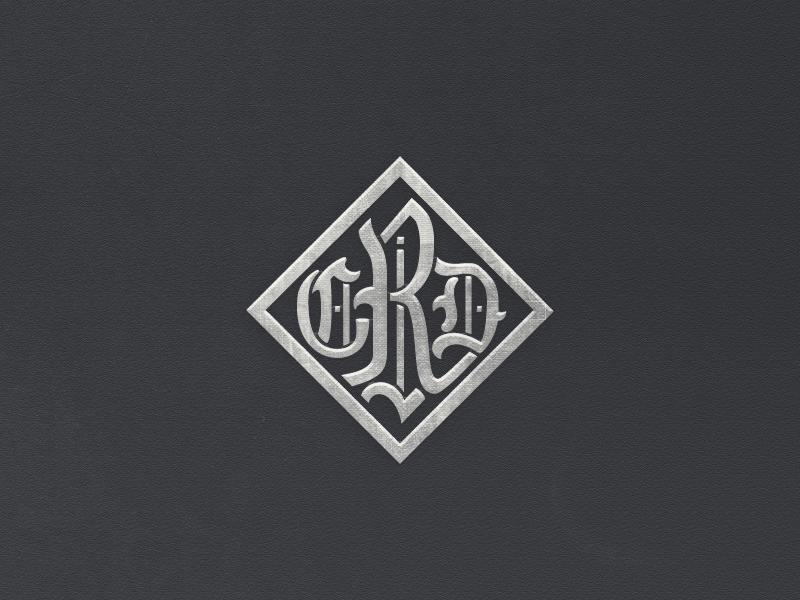 »CDR« Monogram ... typography custom lettering typo logo monogram mark