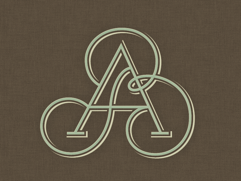 »AB« Monogram ... typography typo lettering fancy custom lettering monogram mark logo