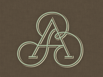»AB« Monogram ... typography typo lettering fancy custom lettering monogram mark logo