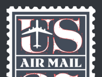 Us air mail vector preview