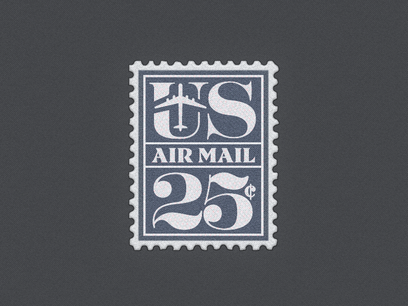 U.S. Air Mail Postage Stamp ... typography typo type lettering vector graphic postage stamp u.s. air mail freebie