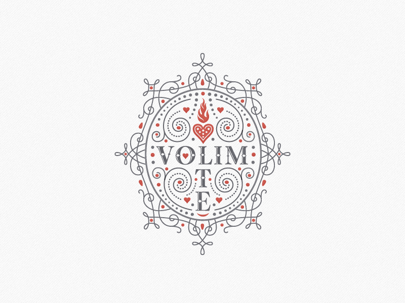 »Volim Te« Mug Deco ... typography typo type lettering vector graphic ornament fancy dainty