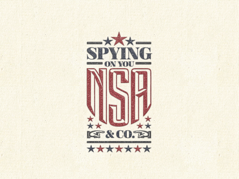 Spying On You ... sticker pointers download freebie vector graphic nsa badge lettering type typo typography