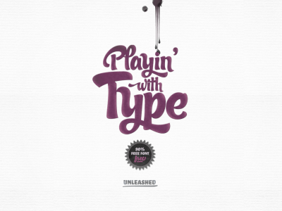 Small playin with type