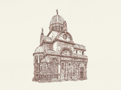 Cathedral Of St. James ... illustration croatia cathedral vector graphic