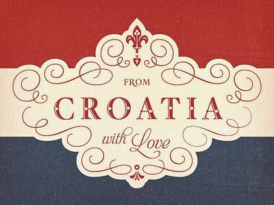 Croatian Flag Tea Towel ... croatia ornament logo logotype lettering type typo typography