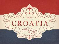 Croatian Flag Tea Towel ...
