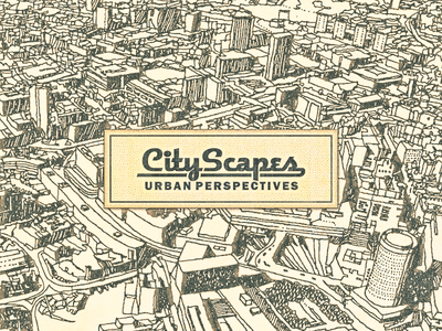 City Scapes ... city scape brochure cover vector graphic illustration lettering type typo typography