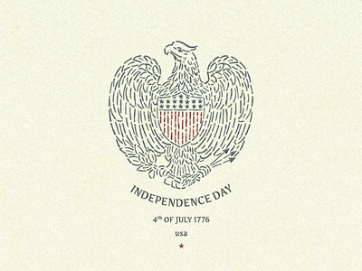 Independence Day ... america usa 4th july independence day eagle typography typo lettering vector graphic