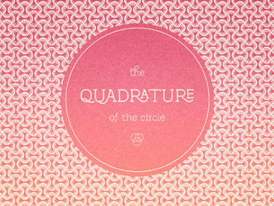 The quadrature of the circle