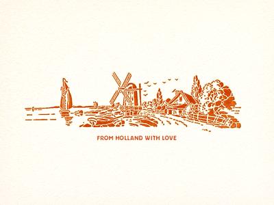 Dutch Village ... dutch village illustration vector graphic