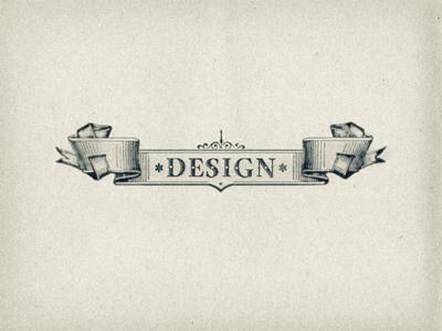 Vintage design scroll