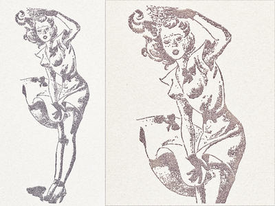 Marilyn ... grungy vintage retro marilyn illustration vector graphic