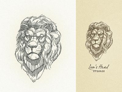 Lion's Head II ... logo head lion illustration vector graphic