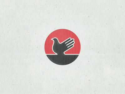 Key Visual ... typography logo key visual draft hand bird