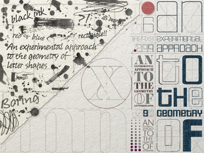 Chaos And Order .. typography lettering type typo typeface experimental typography grungy