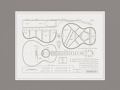 Gibson ... retro design typography info graphic vector graphic