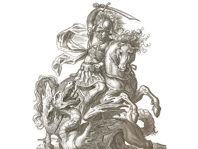 Saint George ... vector graphic dragon saint george graphic vector illustration