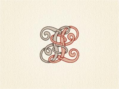 Reversible  fl  monogram