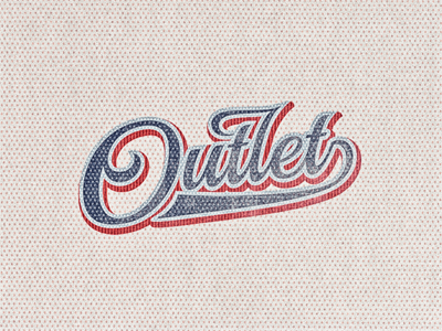 Outlet ... typography lettering type typo typeface retro logo vintage type treatment