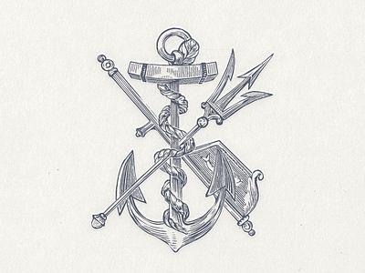 Anchor ... vintagege retro design vector anchor graphic vector illustration