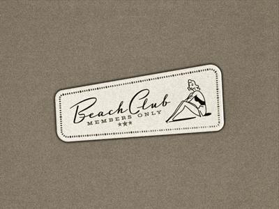 Beach Club ... typography lettering type typo typeface logo vintage retro