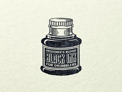 Black ink ...