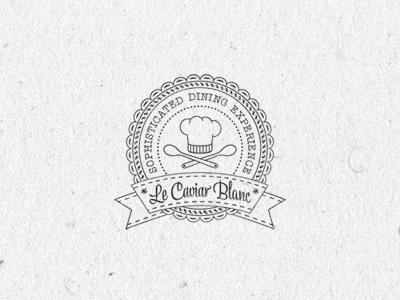 Le Caviar Blanc ... typography lettering type typo typeface logo vintage retro grungy badge