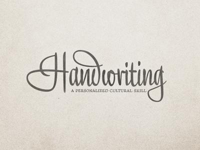 Handwriting ...