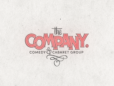 The Company ... typography lettering type typo typeface vintage retro hand lettering logo mark