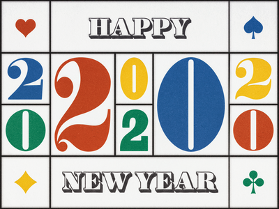HAPPY 2020 ... 2020 numbers typo greeting card new year numerals vector graphic typography type