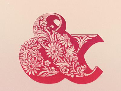 Flower Power Ampersnd ... ampersand typography typo type