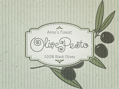 olive pesto  packaging ...