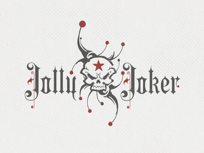 JollyJoker II ... texture vintage mark badge retro logo grungy illustration vector graphic typo typography type