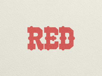 Red woodtype ...