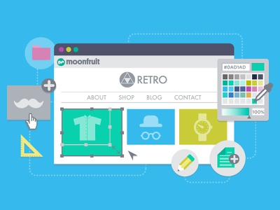 Illustration: Create your own website flat design website illustration diy