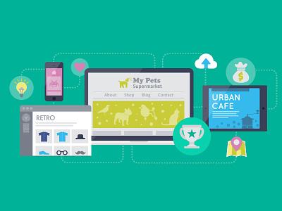 Illustration: Create your own website diy illustration website design flat