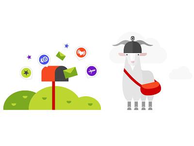 Illustration: Billy the goat bill baaadass billy character goat sport illustration desktop apps application action-camera