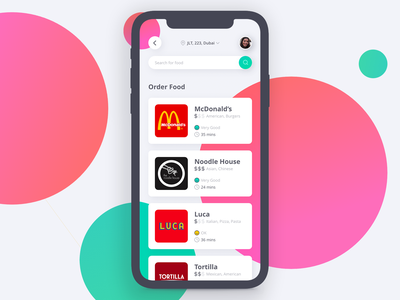 Food Delivery App Concept minimal green pink design delivery app product application app design foodie food app food and drink adobe xd ux ui uiux delivery app food