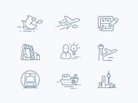 Icon design of architectural planning website