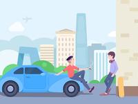 street corner encounter