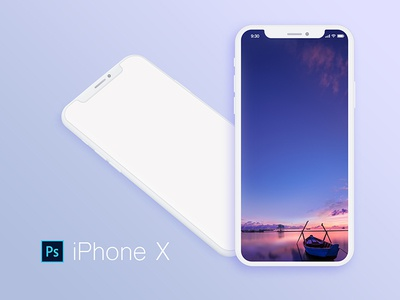 iphone x white psd