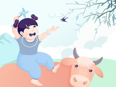 This girl is my daughter😘 iphone x cute lovely illustration cattle girl