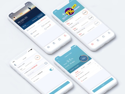 Optimized design for the previous APP. transactions savings money iphone financial app ux ui mobile ios events activities iphone x