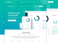 Commercc - Landing Page for Fintech SaaS Startup Company