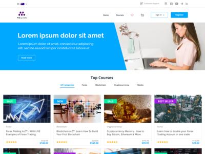 Online Learning Course Website Design