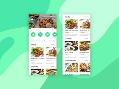 Food Delivery Mobile Application best new latest dribbble vector logo interaction mobile iphone xr ios iphone x user interface shot mobile app flat application user experience ux ui design