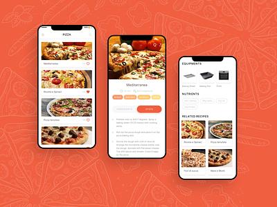 Recipe Mobile App - UI/UX Design Project modern iphone x ios user interface mobile app application user experience ui ux design